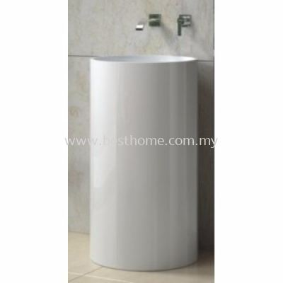 TORA LE CELEBRITY SERIES POLYSTONE FREE STANDING BASIN TR-SYW-WHB-05216-WW