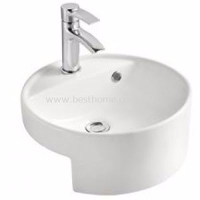 SEMI-RECESSED WASH BASIN A012 / LC-SYW-WHB-09013-WW