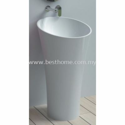 TORA LE CELEBRITY SERIES POLYSTONE FREE STANDING BASIN TR-SYW-WHB-05217-WW