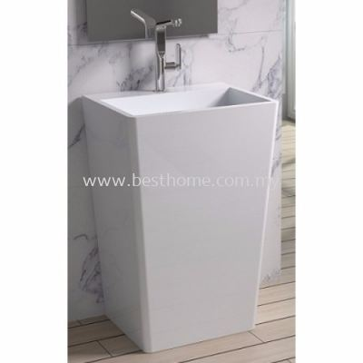 TORA LE CELEBRITY SERIES POLYSTONE FREE STANDING BASIN TR-SYW-WHB-06279-WW