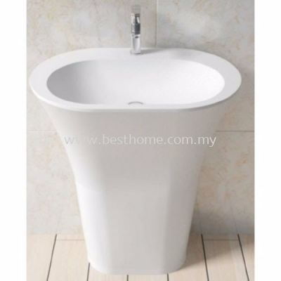 TORA LE CELEBRITY SERIES POLYSTONE FREE STANDING BASIN TR-SYW-WHB-06281-WW