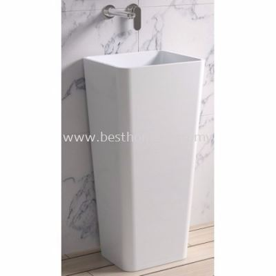 TORA LE CELEBRITY SERIES POLYSTONE FREE STANDING BASIN TR-SYW-WHB-06280-WW