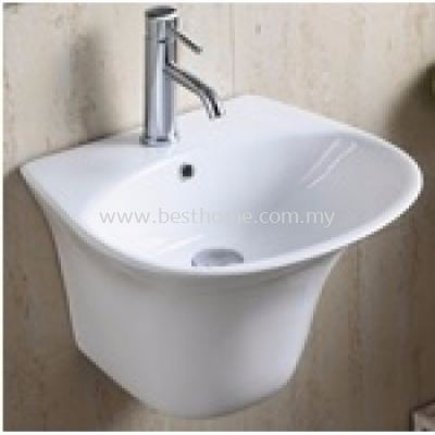 WALL HUNG WASH BASIN OVAL / LC-SYW-WHB-08487-WW