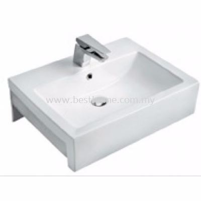 WJA COUNTER TOP / WALL HUNG WASH BASIN L716 / WJA-BBC-MNC-04066-WW