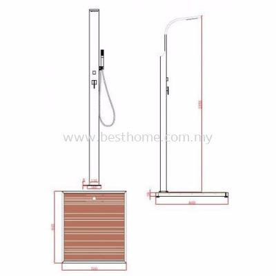 TORA OUTDOOR SHOWER SET TR-SH-ESP-09525