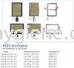 IMEC A4 Frame - A4 Frama for Q-Up Stand Floor Sign, Q-up Stand