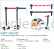 "IMEC  UQS 302 - ""U"" Shape Stackable S/Steel Q-Stand Retracting Belt 2 Meter Floor Sign, Q-up Stand"