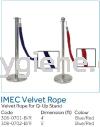 IMEC Velvet Rope - Velvet Rope for Q-Up Stand  Floor Sign, Q-up Stand