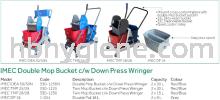 IMEC Double Mop Bucket c/w Down Press Wringer Mop Bucket Cleaning Equipment
