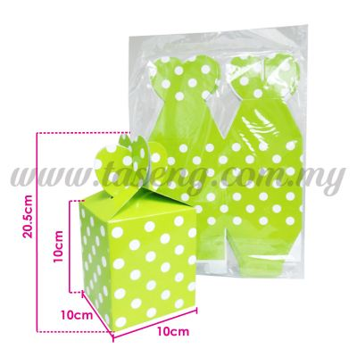 Gift Box Polka Dot - Lime Green 1pack *10pcs (BX-GB2-LG)