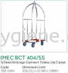 IMEC BCT 404/SS - S/Steel Birdcage Garment Trolley c/w Carpet  Fool luggage Trolley