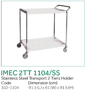IMEC 2TT 1104/SS - S/Steel Transport 2 Tiers Holder