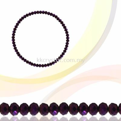 Crystal China, Donut 3mm, B81 Metalic Purple