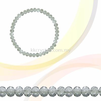 Crystal China, Donut 3mm, B83 Silver Shade