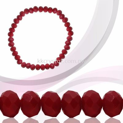 Crystal China, Donut 4mm, B31 Red Coral