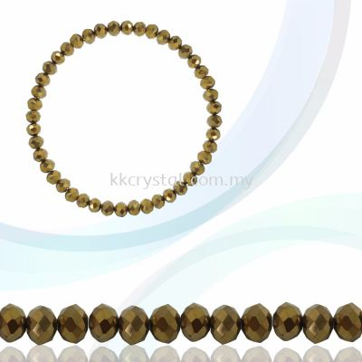 Crystal China, Donut 4mm, B77 Metalic Gold