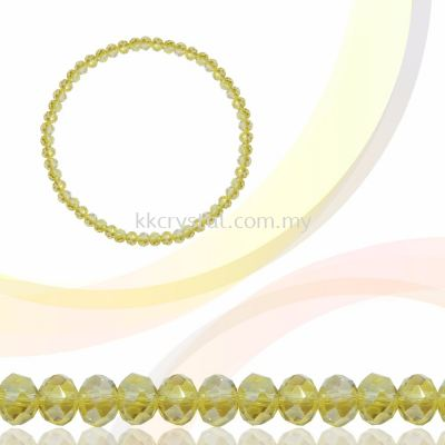 Crystal China, Donut 4mm, B62 Jonquil AB
