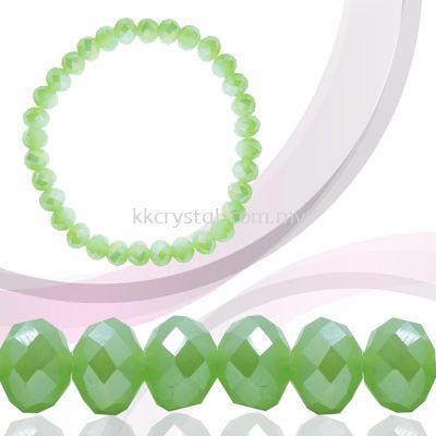 Crystal China, Donut 4mm, B71 Peridot Opal AB