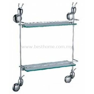 ANTHILL ANTZ SERIES DOUBLE LAYER GLASS SHELF AN111(KA111)-POLISH / AH-BA-GS-00889-PL