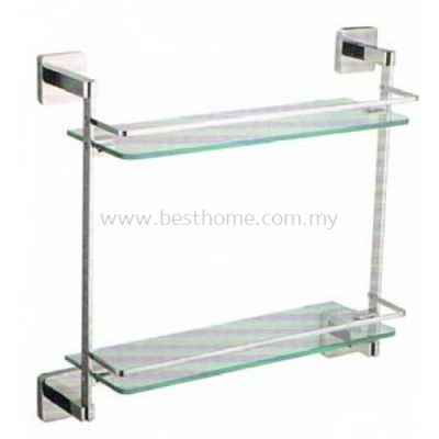 ANTHILL ZENTUX SERIES DOUBLE LAYER GLASS SHELF ZE131(KA131)-POLISH / AH-BA-GS-00965-PL