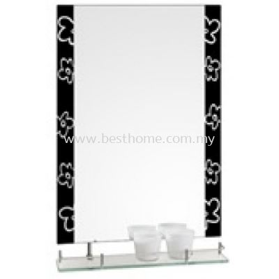 MIRROR WITH SHELF M61570B / TR-BA-MR-01235-BK