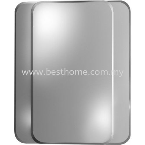 Tora Crystal Double Silver Mirror With Beveled Edge And 4 Round Tr Ba Mr 07601