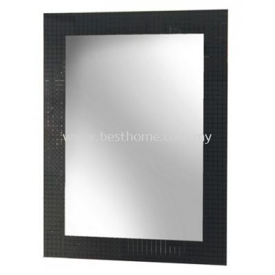 SILVER MIRROR WITH SILK PRINTING AND STRAIGHT EDGE TR-BA-MR-07602