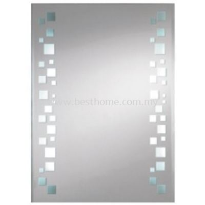 SQUARE CRYSTAL MIRROR WITH LED LIGHTS M4588 / TR-BA-MR-01229