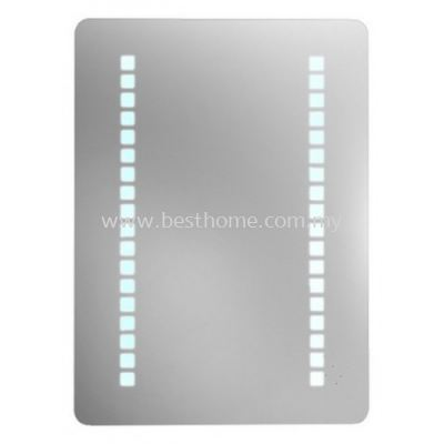 TORA SQUARE SHAPE ALUMINUM FRAME MIRROR WITH LED LAMP M4597 / TR-BA-MR-03026