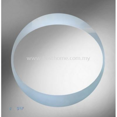 SQUARE SHAPE ALUMINUM FRAME MIRROR WITH WHITE LAMP M4596 / TR-BA-MR-03025