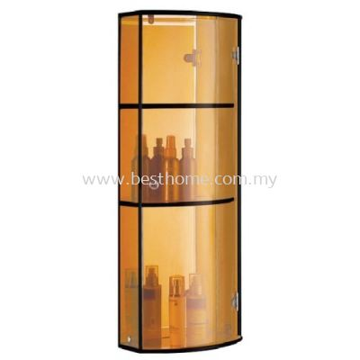 FAUREX TRANSPARENCE BROWN TRIPLE GLASS CABINET FR-BA-MC-04800