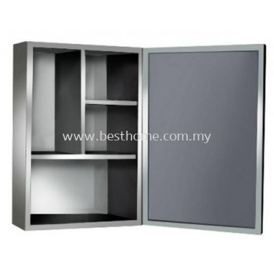 STAINLESS STEEL BLACK FINISHING MIRROR CABINET TR-BA-MC-08623-BK