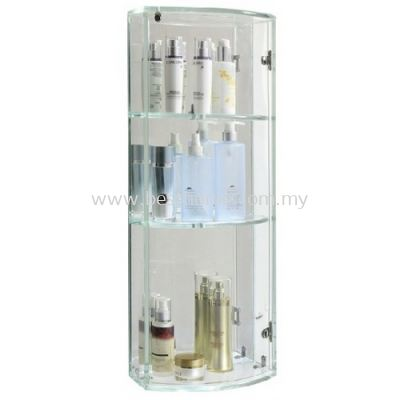 FAUREX TRANSPARENCE WHITE TRIPLE GLASS CABINET FR-BA-MC-04799