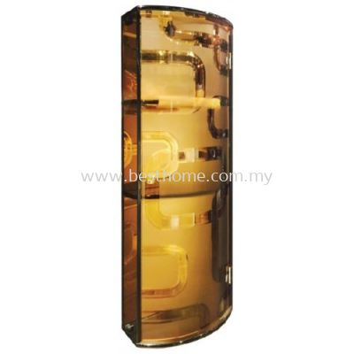 TORA TRANSPARENCE BROWN TRIPLE TEMPERED GLASS CABINET TR-BA-MC-04802