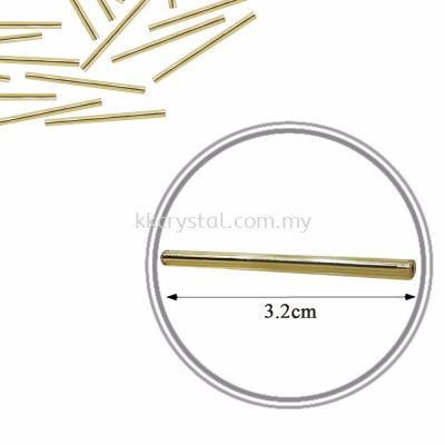Seed Beads, Long Cut Beads, 3.2cm, Gold