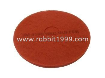 3M 5100 RED BUFFER PAD  FLOOR MAINTENANCE EQUIPMENT AND CHEMICAL