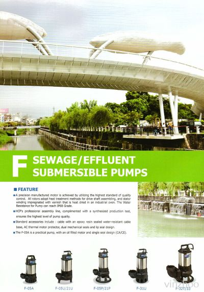 Sewage & Efflient Submersible Pumps (F Series)