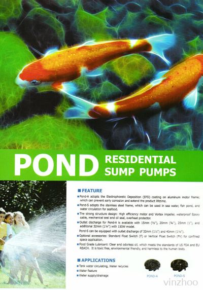 Pond Residential Sump Pump
