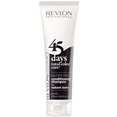 REVLON 45 DAYS CONDITIONING SHAMPOO RADIANT DARKS 275ML