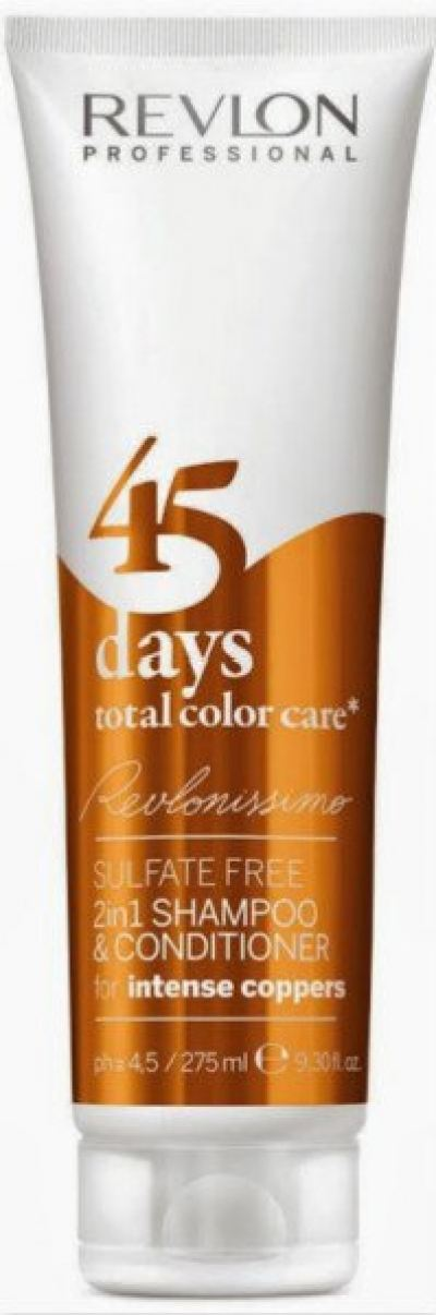 REVLON 45 DAYS CONDITIONING SHAMPOO INTENSE COPPERS 275ML