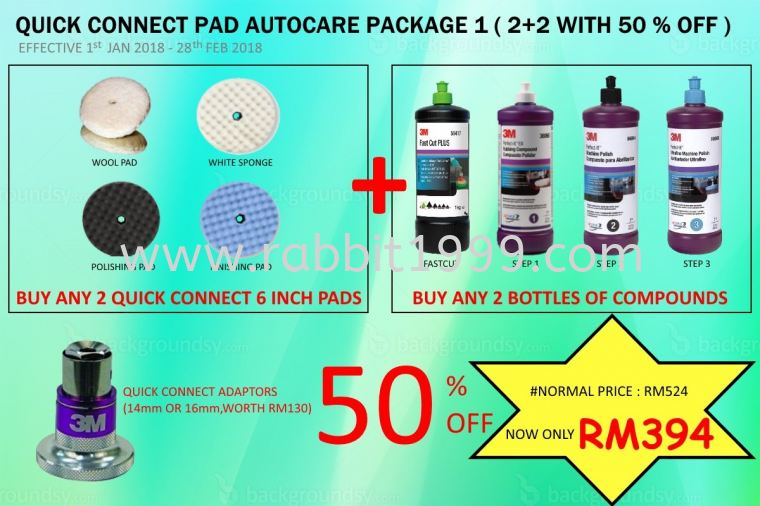 PROMOTION 3M AUTOCARE 2018  (PACKAGE 1)