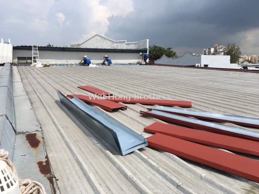 Roofing metal break services