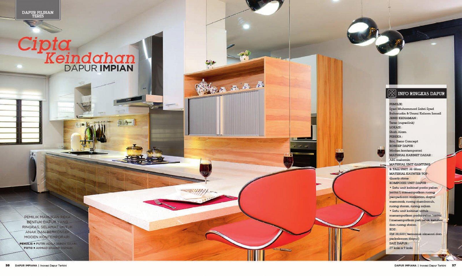 reka bentuk hiasan dalaman teres home interior design services Julai-Ogos 2013