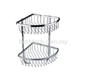 SC-004DH Double Layer Corner Basket with Hook