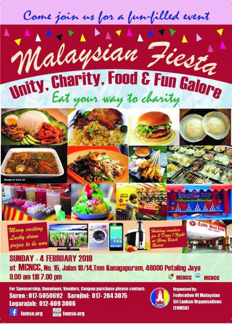 Malaysian Fiesta by FOMSO April 2018 Year 2018 Past Listing