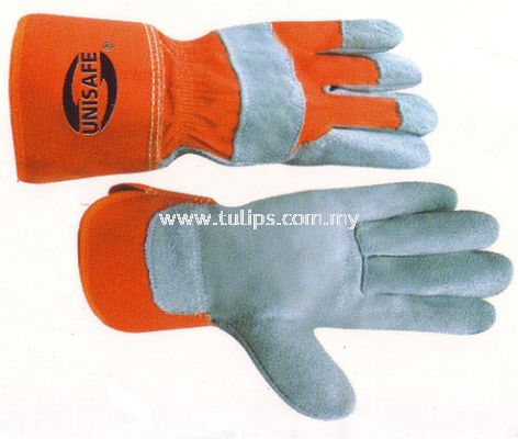 UNISAFE Leather Work Gloves 10.1/2""