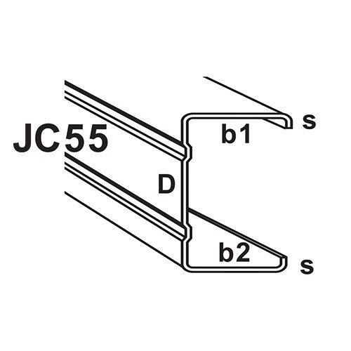 JC55 JC Type C-Section Truss Component : C-Section & Batten