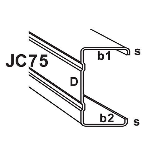 JC75 JC Type C-Section Truss Component : C-Section & Batten