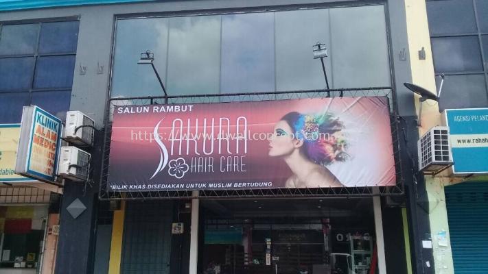 Zig Zag Banner Install At Shah Alam Seksyen 7