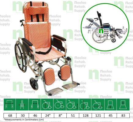 NL954LGC Lightweight Reclining Wheelchair